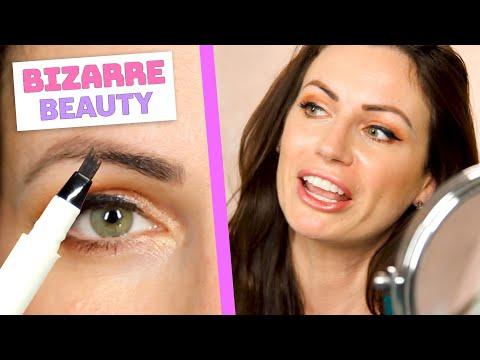 Women Try An Eyebrow Microblading Pen