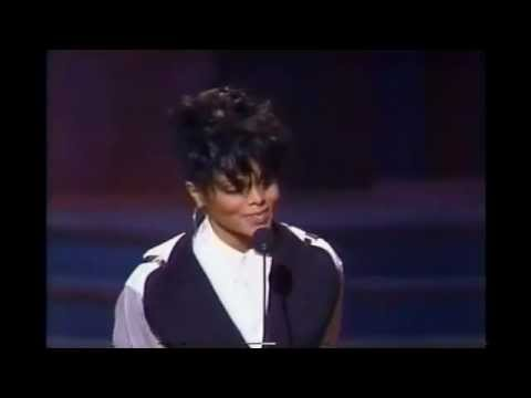 Janet Jackson 1990 Presents Jimmy Jam & Terry Lewis NAACP award