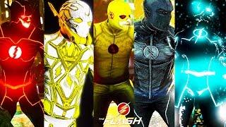 Future Flash VS All Speedsters ! 1vs 4 (GTA 5 Flash Mod)