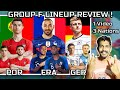 Portugal, France & Germany Lineup Review EURO 2021 : GROUP F REVIEW