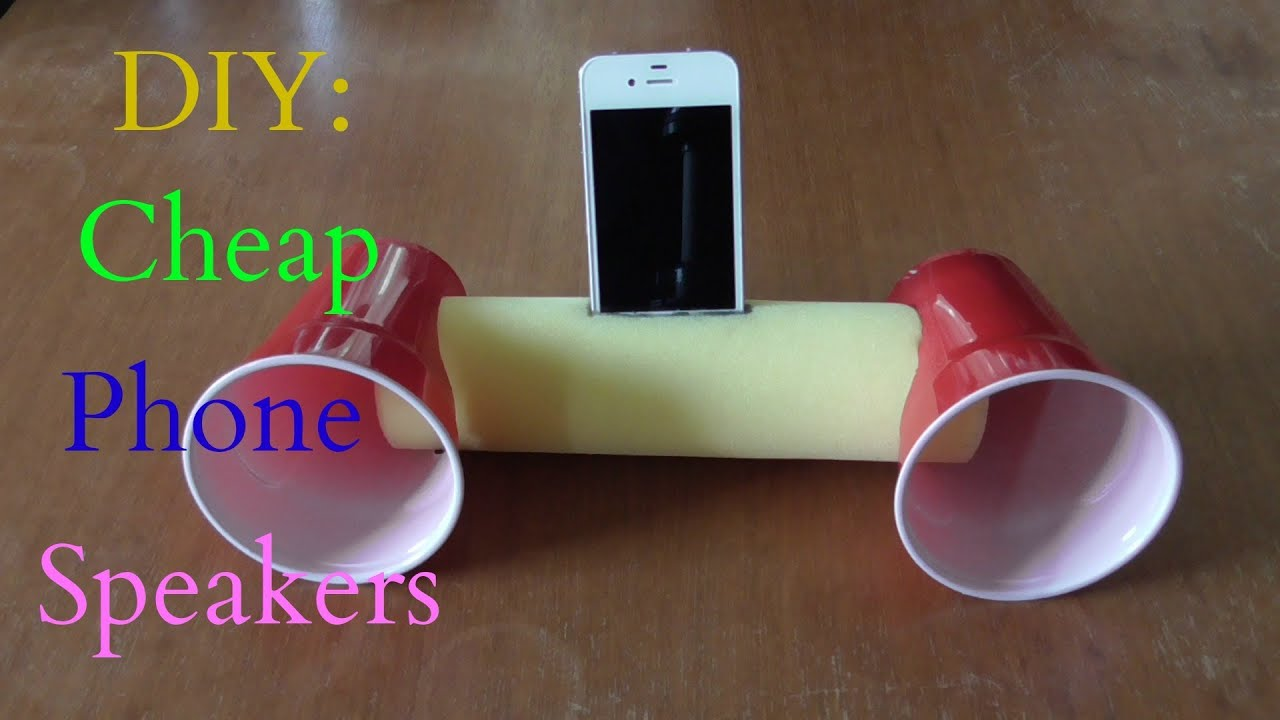 DIY: Cheap Phone Speakers That Don't Use Electricity - YouTube
