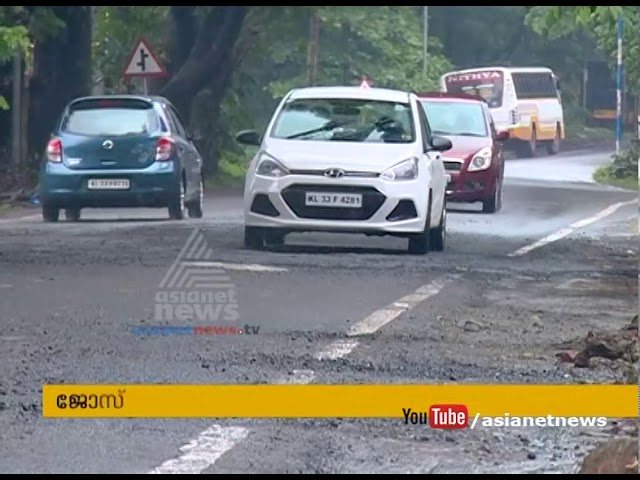 Pathetic condition of  Changanassery bypass road