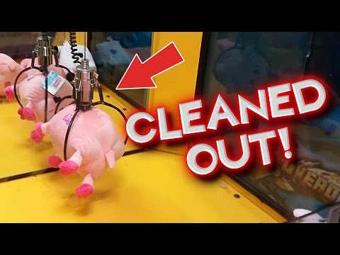 Winning EVERY Prize in an Entire Claw Machine / Skill Crane | Arcade Games