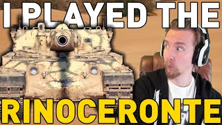 I PLAYED THE RINOCERONTE! World of Tanks