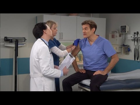 Dr. Oz Visits Dr. Ken for a Flu Shot
