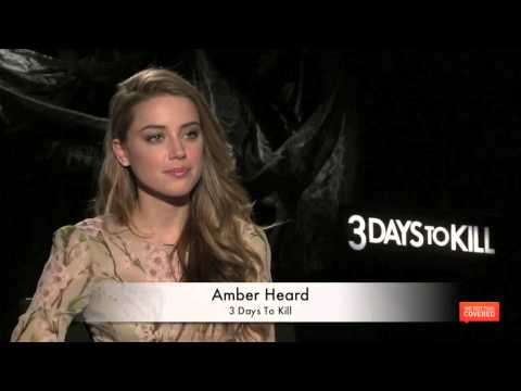 3 Days To Kill Interview With Kevin Costner, Amber Heard And McG [HD]