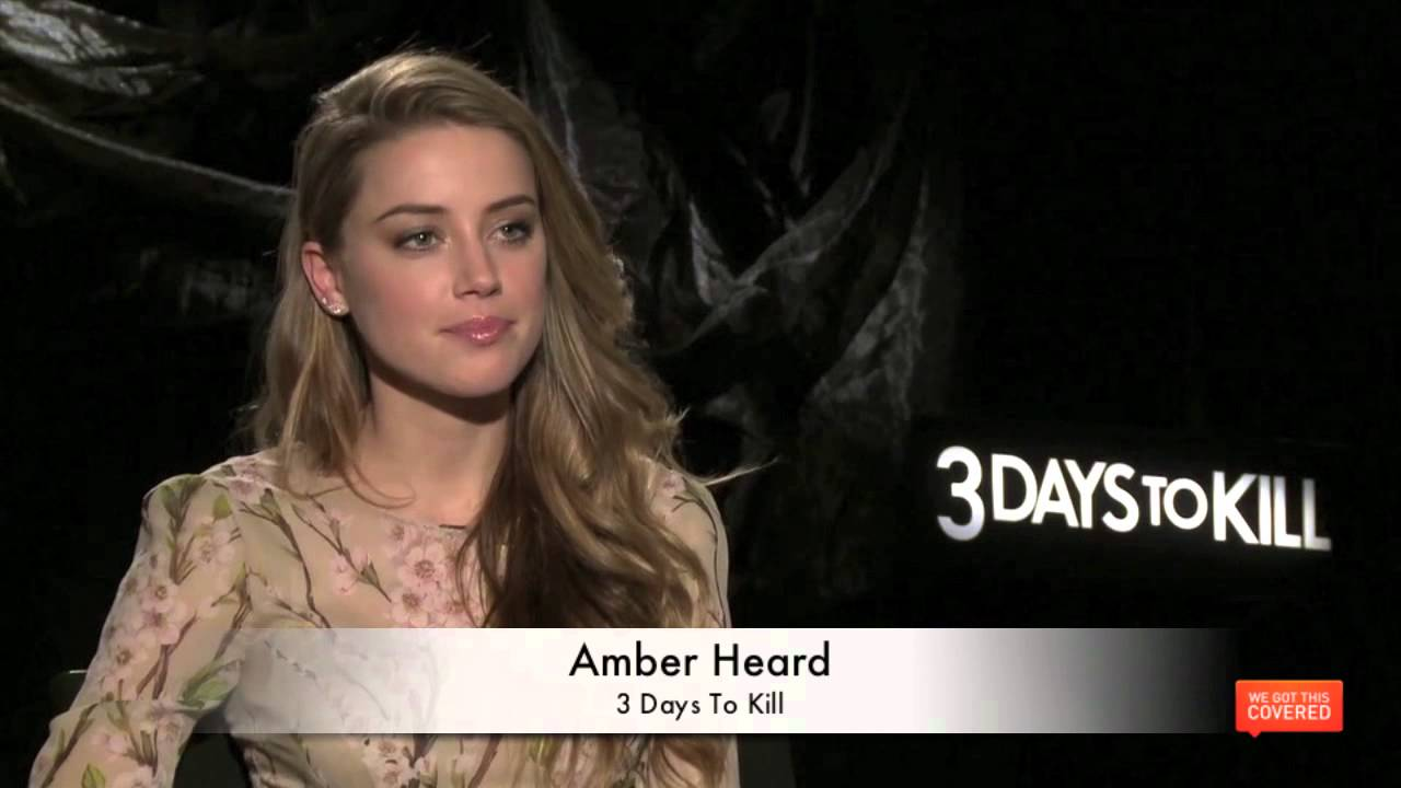 3 days to kill interview with kevin costner amber heard and mcg hd youtube. Black Bedroom Furniture Sets. Home Design Ideas