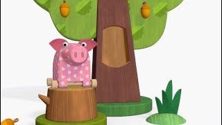 Теремок песенки 🎶 МУЛЬТ - Деревяшки - ЛАБИРИНТ - Песенки для детей, малышей про игрушки и животных