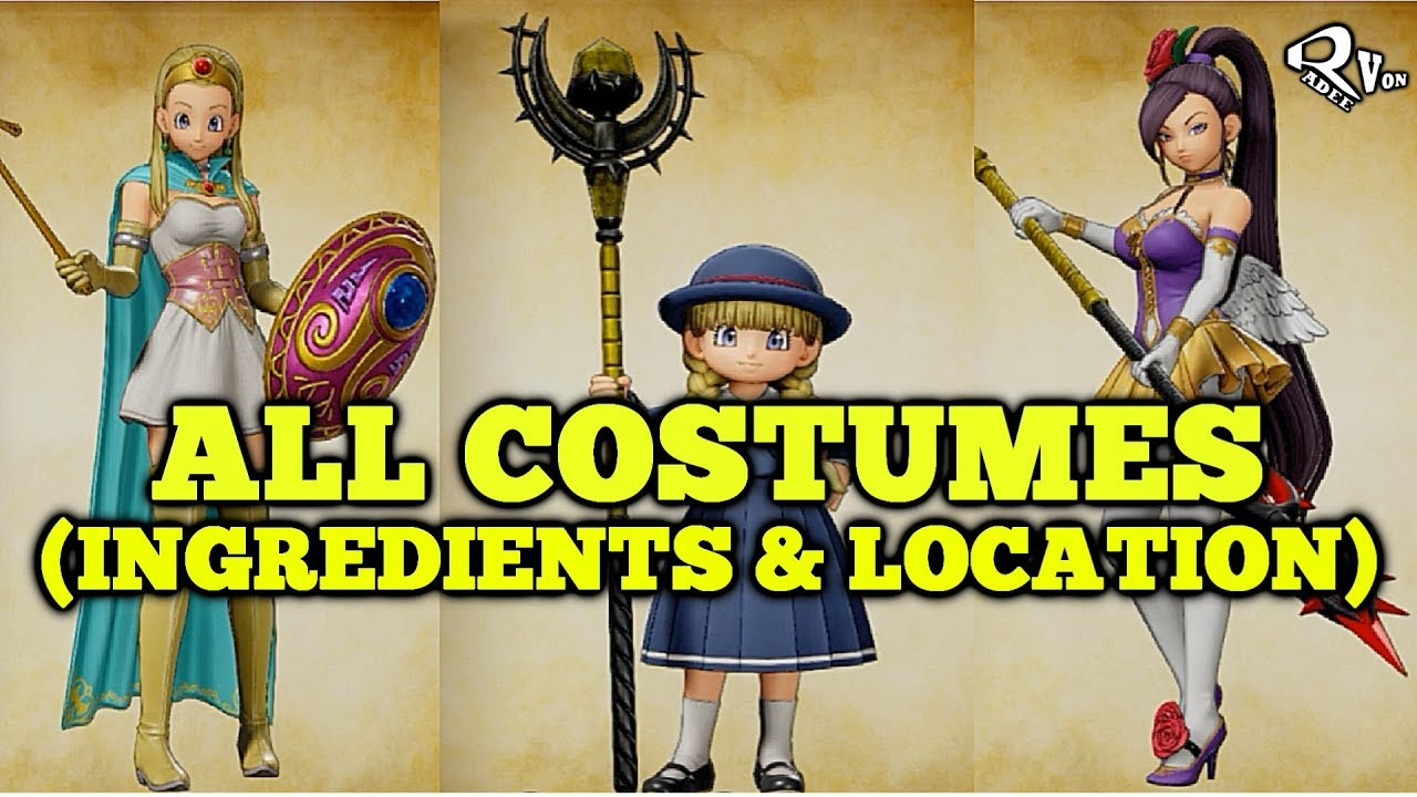 Dragon Quest Xi All Costumes And Armor Guide 100 Complete Youtube Dragon quest xi s adds a whole new act filled with content. dragon quest xi all costumes and armor guide 100 complete