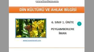 6. Sınıf 1. Ünite Peygamberler