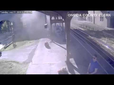 Runaway rail car kicked loose by teen hits N