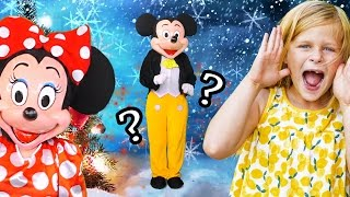 THE ASSISTANT Minnie Mouse + Donald Duck Live Action Winter Games Learning Video
