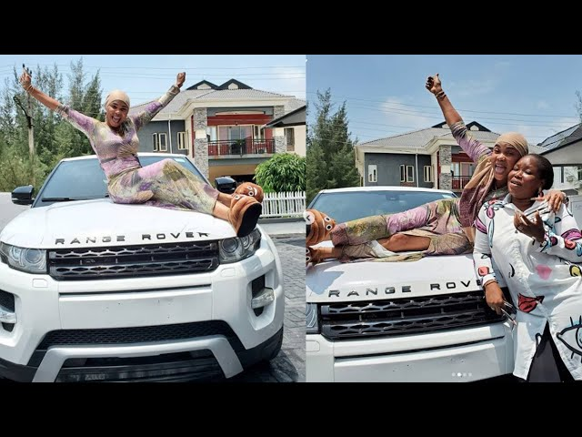 IYABO OJO GETS SURPRISE BRAND NEW RANGE ROVER EVOQUE FROM  god-DAUGHTER DAYS AFTER HER HOUSE WARMING