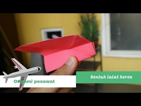 Cara membuat origami Pesawat Lalat terbang jauh
