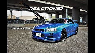 R34 GTR in the City / POPS & CRACKS / REACTIONS