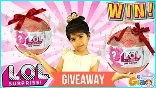 WIN LOL SURPRISE Special Edition Giant Ball CHRISTMAS GIVEAWAY-  WINNERS WILL BE ANNOUNCED SOON