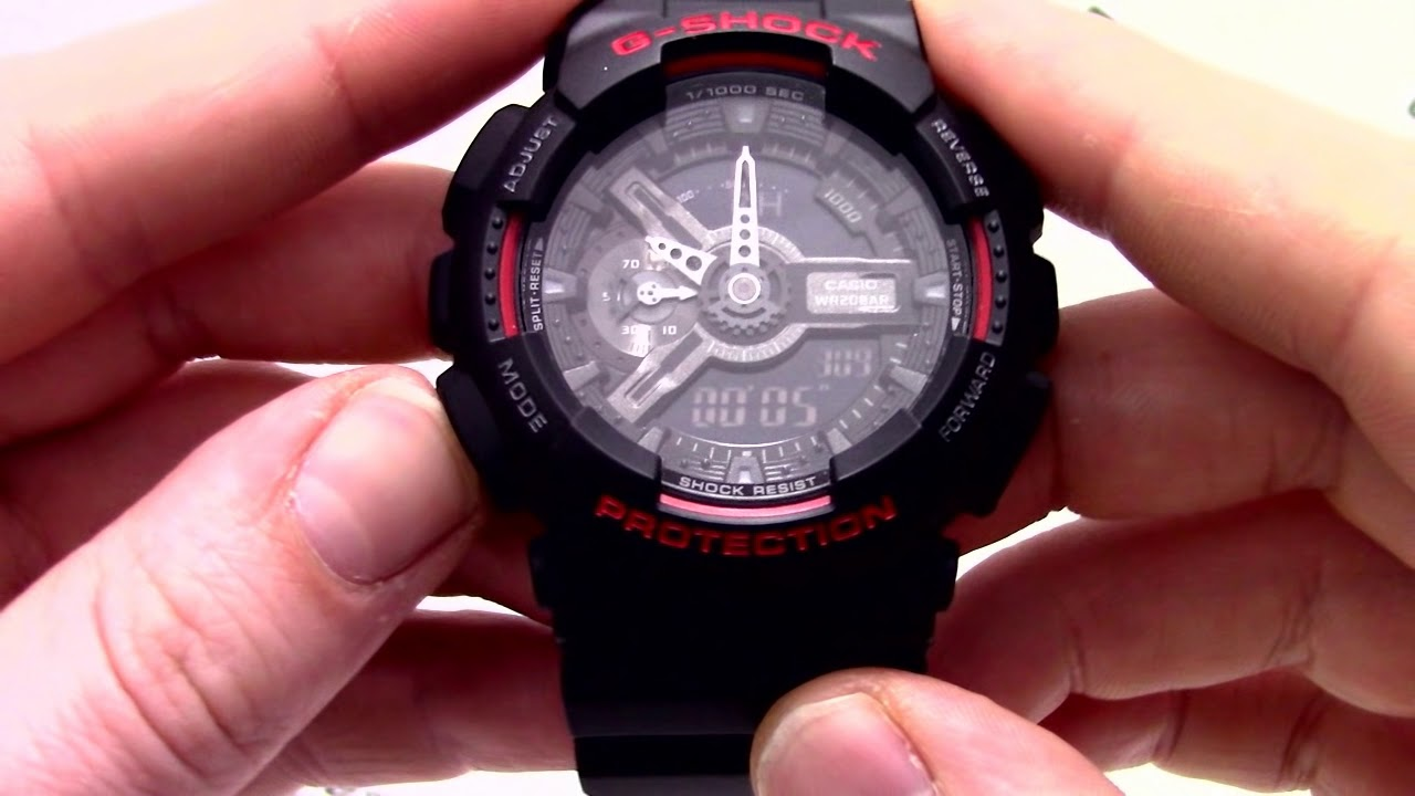 как настроить часы g shock ga 110 понимать