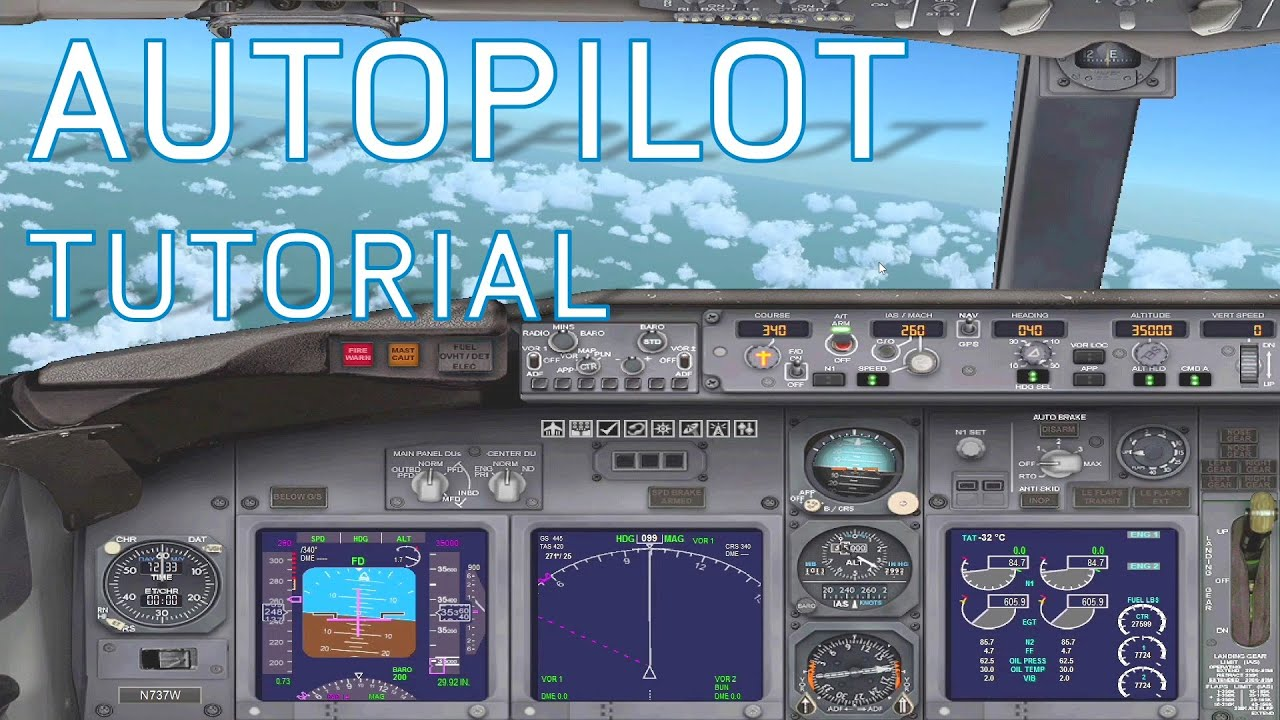 fsx how to use autopilot boeing 737 800 tutorials youtube rh youtube com