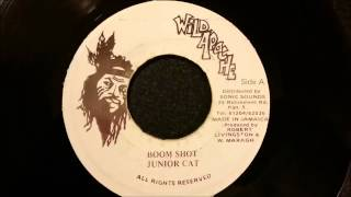 """Junior Cat - Boom Shot - Wild Apache 7"""" w/ Version"""