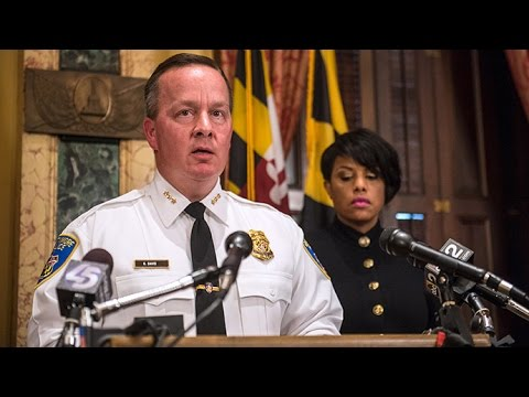 Woman Throws Water On Baltimore Mayor over New White Police Chief