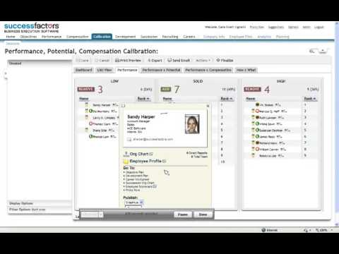 SuccessFactors Stack Ranker and Calibration Demo