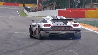 $7.4 Million Koenigsegg One:1 - Powersliding, Brutal Accelerations & Downshifts!