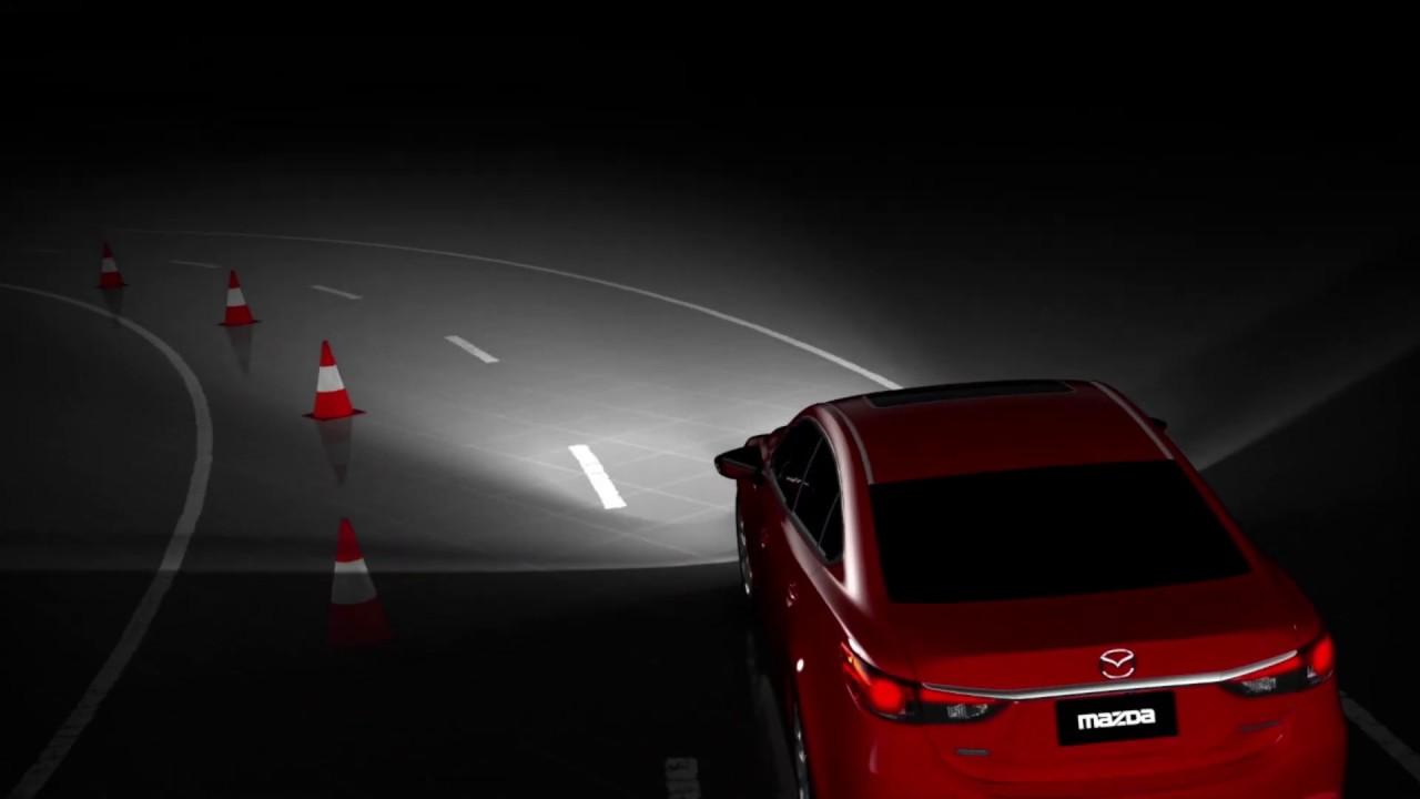 adaptive front lighting system i activsense technology car safety mazda canada