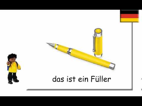 german school things schulsachen auf deutsch youtube. Black Bedroom Furniture Sets. Home Design Ideas