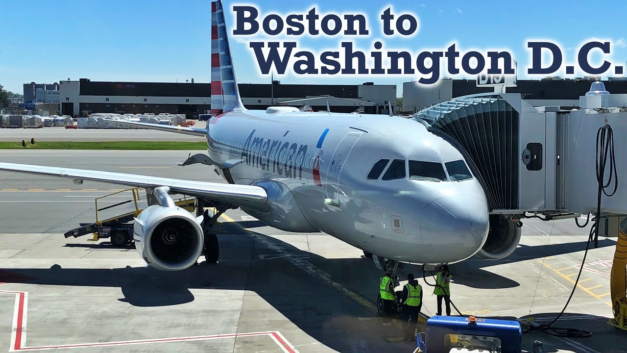 Full Flight American Airlines A319 Boston To Washington D