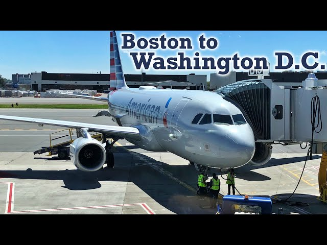 Full Flight: American Airlines A319 Boston to Washington D.C. (BOS-DCA)