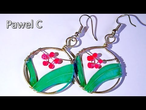 Flower and grass. DIY nail polish earrings