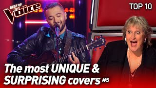 The MOST UNIQUE \u0026 SURPRISING COVERS on The Voice #5 | Top 10