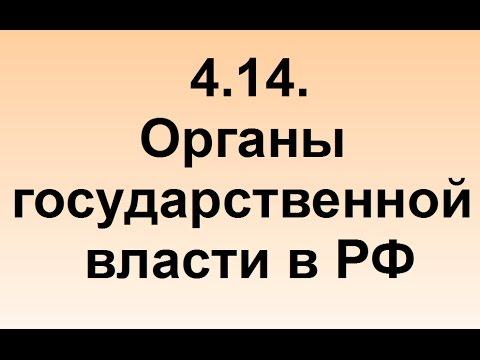 4.14. Органы государственной власти РФ