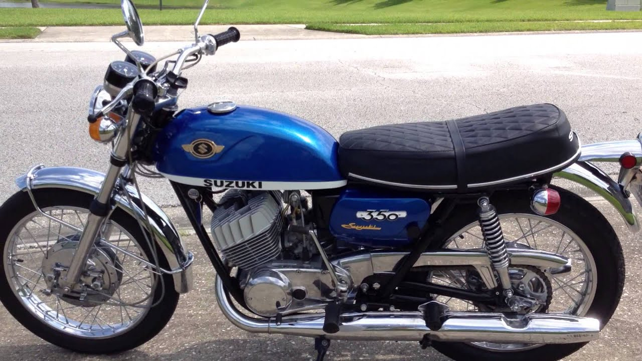 Suzuki T350 2-stroke from 1970, restored - YouTube