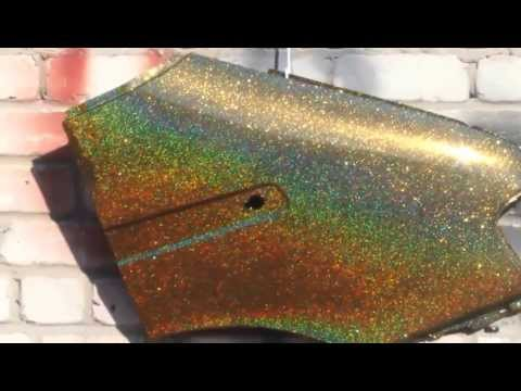 Покраска машины блёстками