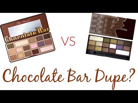 Too Faced Chocolate Bar vs. Makeup Revolution I Heart Chocolate Palette
