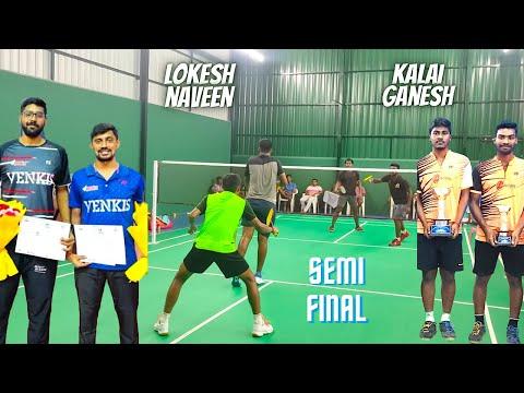 KALAI GANESH vs NAVEEN LOKESH Semi Final DFBA Men Doubles Inaguration Badminton Tournament 2020
