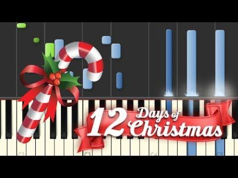 Twelve Days Of Christmas  Piano Tutorial Synthesia