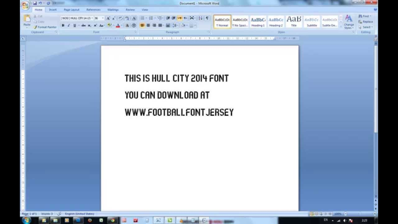 HULL CITY 2014 FOOTBALL FONT TTF