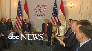 Trump at G-7, Amazon fires, Hong Kong clashes, Andrew Luck retirement   ABC News