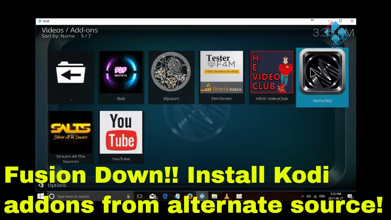 TVAddons ag, Fusion and Indigo are down! Install Kodi addons from alternate  source 1