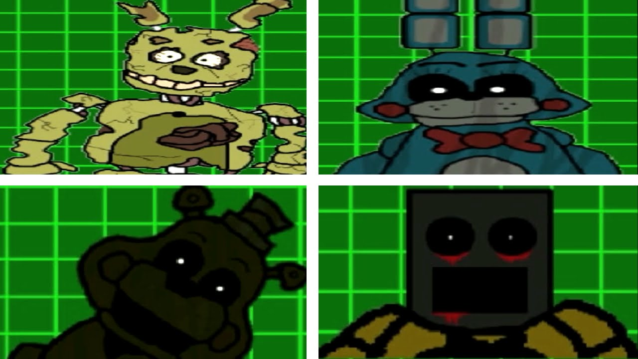 Five nights at freddy s 3 all jumpscares game maker youtube