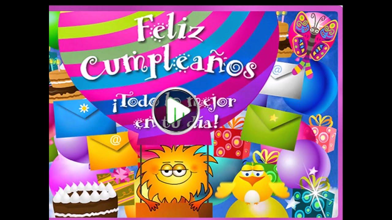 Videos de feliz cumpleanos animados para whatsapp