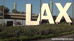 LAX Los Angeles International Airport - Rental Car Shuttle Bus and Bagage Claim HD 1080i