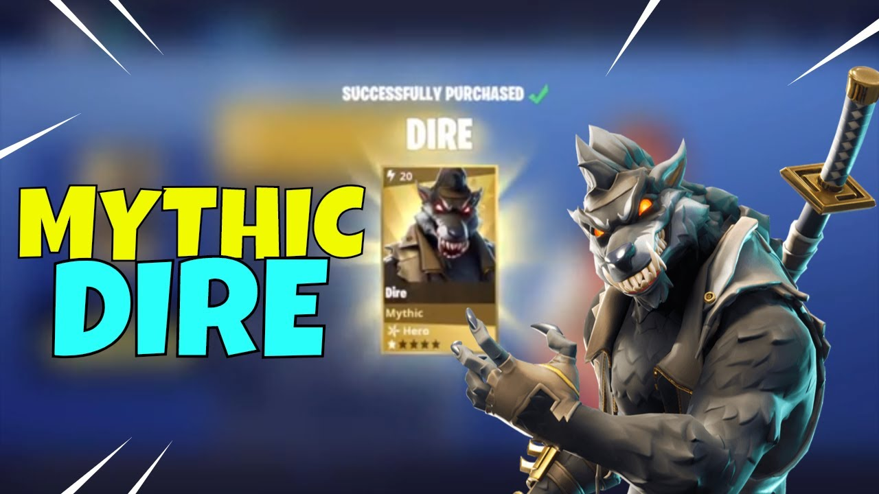 UNIQUE HERO NEW Dire Wolf Mythic Hero Fortnite Save The