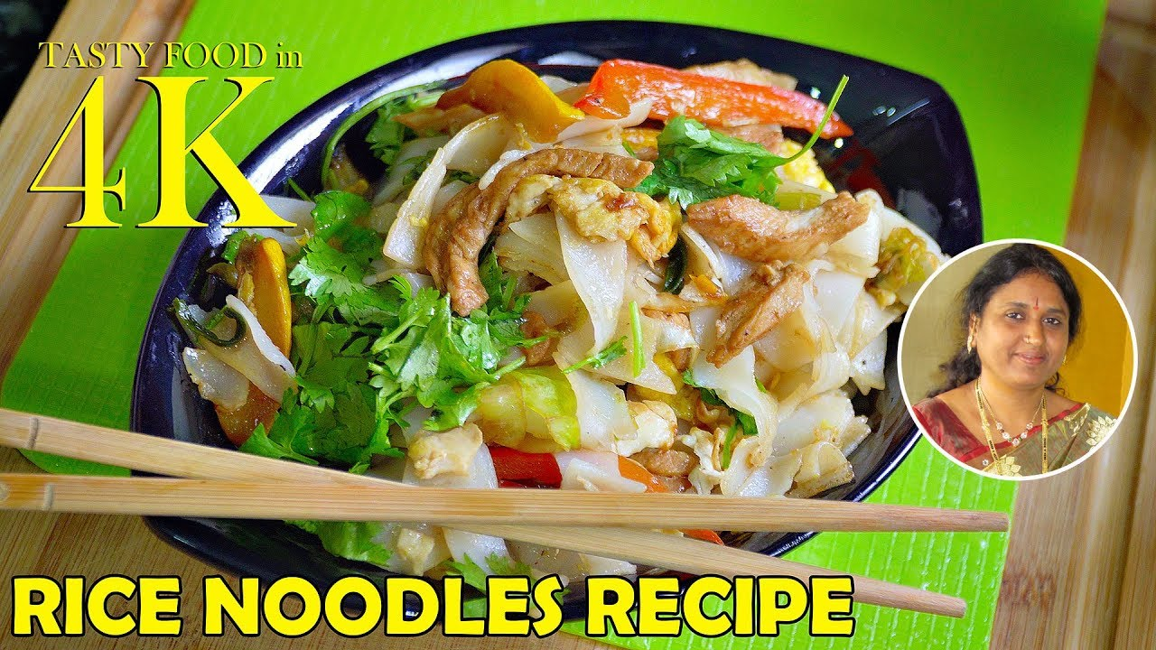 How To Cook Rice Noodles With Vegetables Egg Chicken  4k