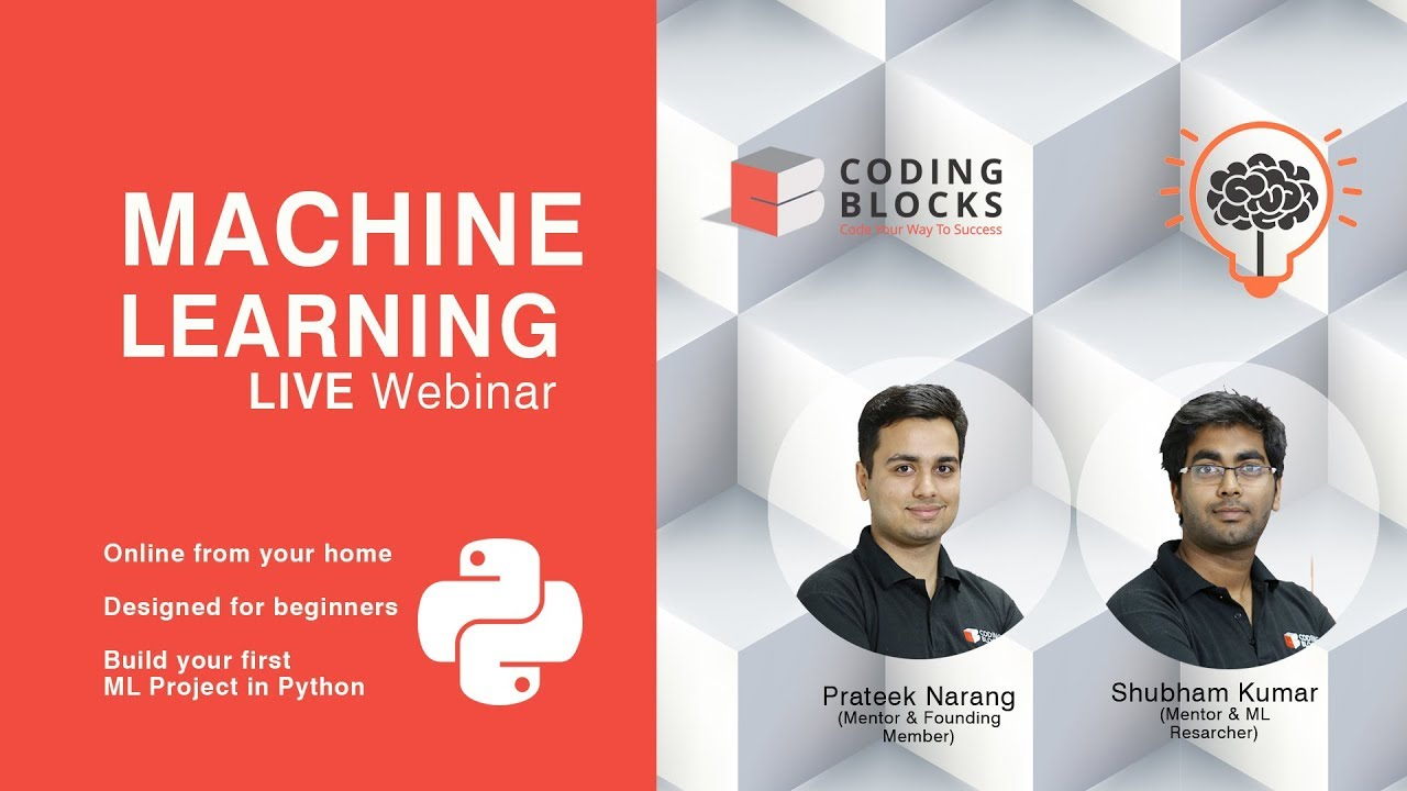 Machine Learning Webinar [Hinglish] with LIVE Project ( Code
