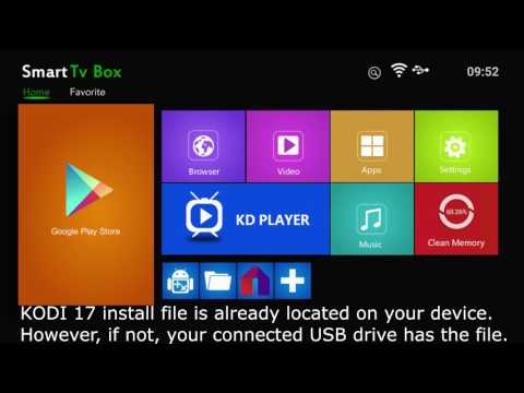 How To Reinstall KODI 17 On Your ConnectBox X96