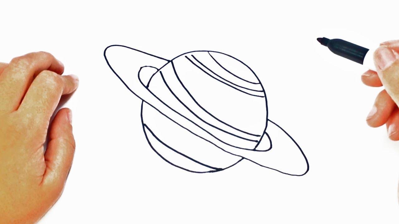 Dibujos Faciles De Colorear: Cómo Dibujar Un Planeta Paso A Paso