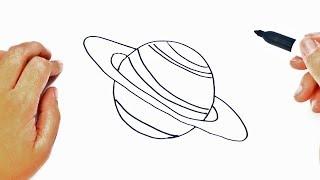 Cómo dibujar un Planeta paso a paso   Dibujo fácil de Planeta